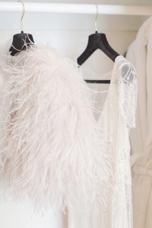 Feather Bridal Shrug
