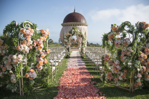 Flower Covered Gates to Wedding Ceremony