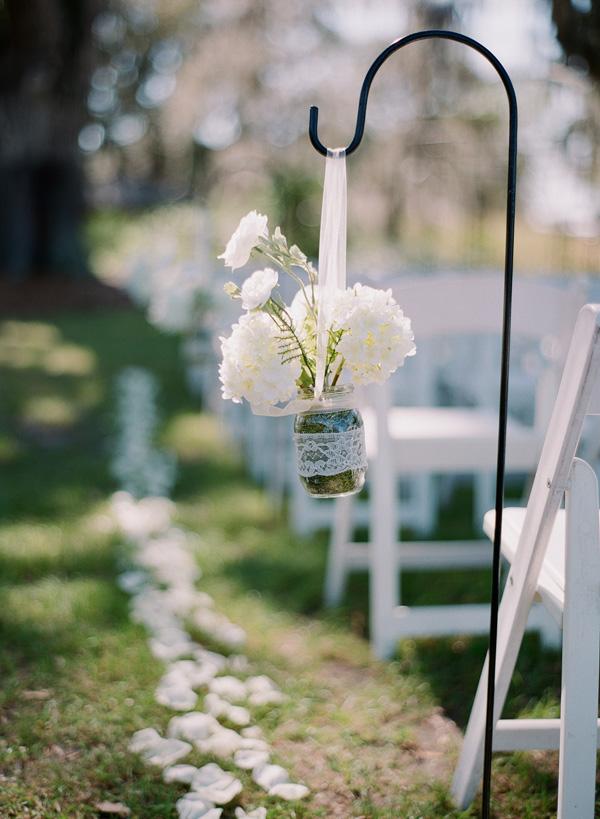 Flowers in Mason Jar on Shepherds Hook - Elizabeth Anne Designs: The ...