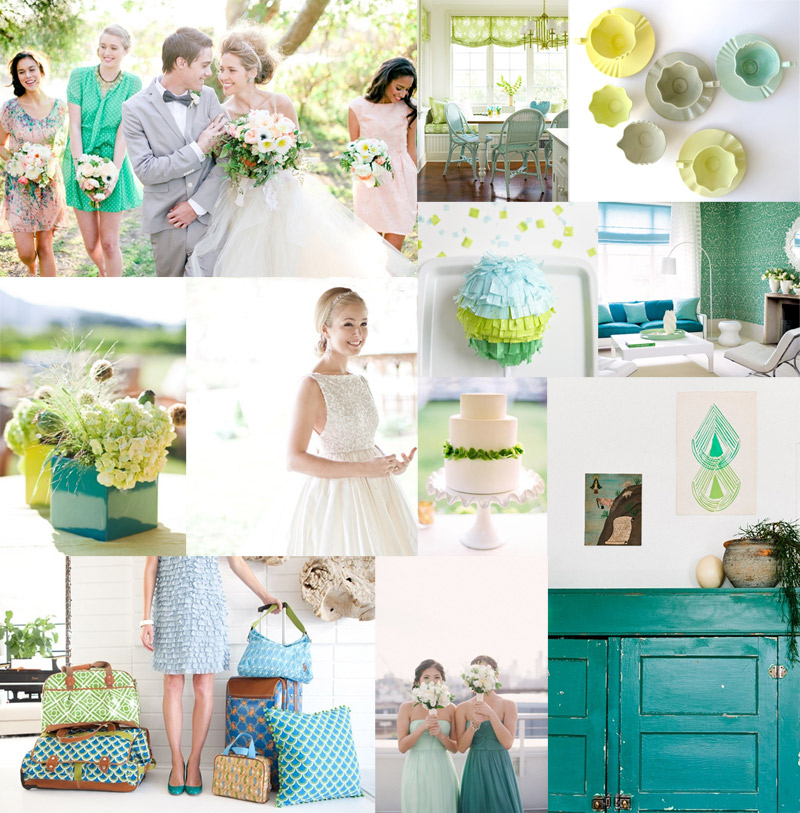 Fresh Green Blue Wedding Inspiration