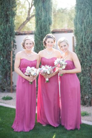 Fuchsia Bridesmaids Dresses