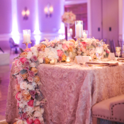 Glamorous Floral Table Garland
