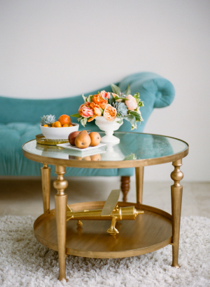 Gold Coffee Table With Glass Top