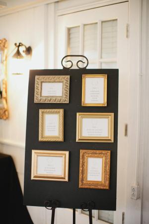 Gold Frames on Black Board