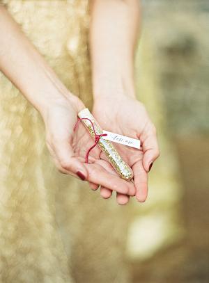Gold Glitter Favor