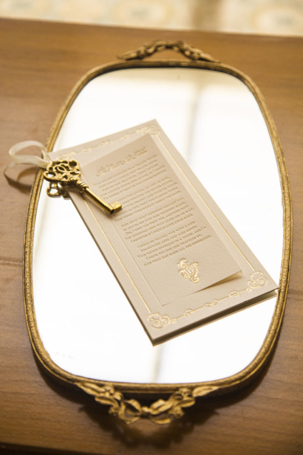 Gold Letterpress Ceremony Program