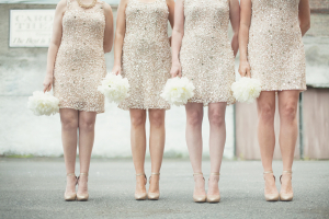 Gold Sparkly Bridesmaids Dresses
