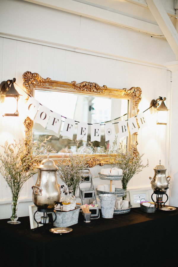 Gold and black vintage style coffee bar elizabeth anne for Coffee bar for wedding