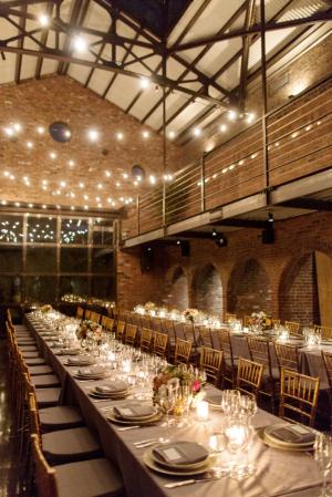 Industrial Reception Venue Ideas With Brick Walls