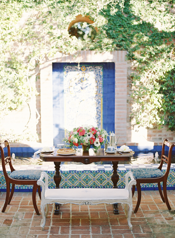 Intimate Table Setting in Garden