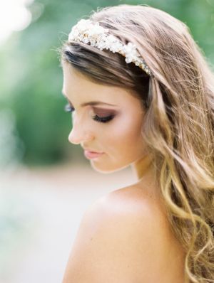 Jeweled Headband Bridal Hair Ideas