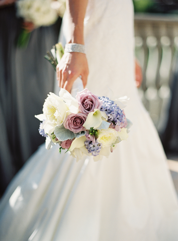 Lavender and Cream Bouquet With Dusty Miller - Elizabeth ...