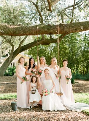 Long Pale Bridesmaids Dresses