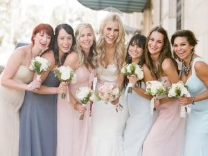 Long Pastel Colored Bridesmaids Dresses