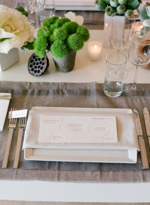 Modern Cream and Taupe Reception Decor