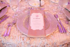 Modern Glittery Wedding Reception Setting