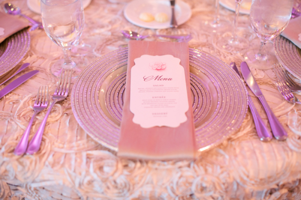 Modern Glittery Wedding Reception Setting