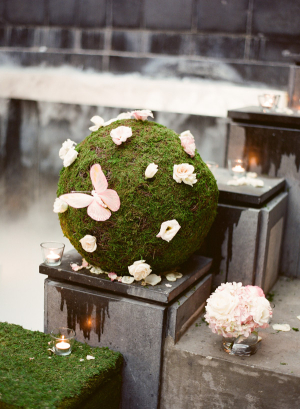 Modern Moss Wedding Decor