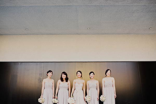 Neutral Strapless Bridesmaids Dresses