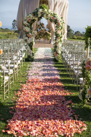 Ombre Wedding Aisle