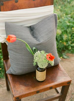 Orange Gray Wedding Ideas