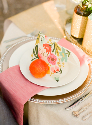 Orange Pink Spring Wedding Ideas