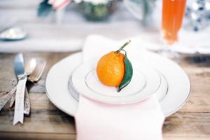 Orange Wedding Place Setting