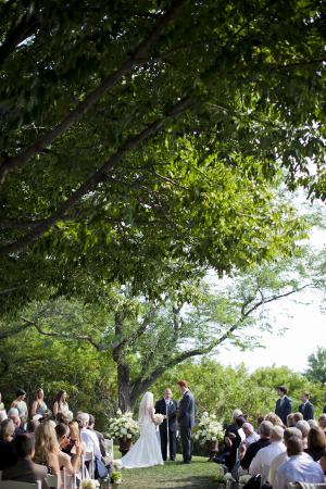 Outdoor Wisconsin Wedding Ceremony