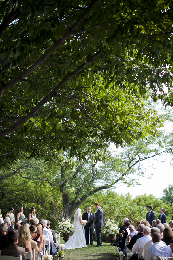 Outdoor Wisconsin Wedding Ceremony