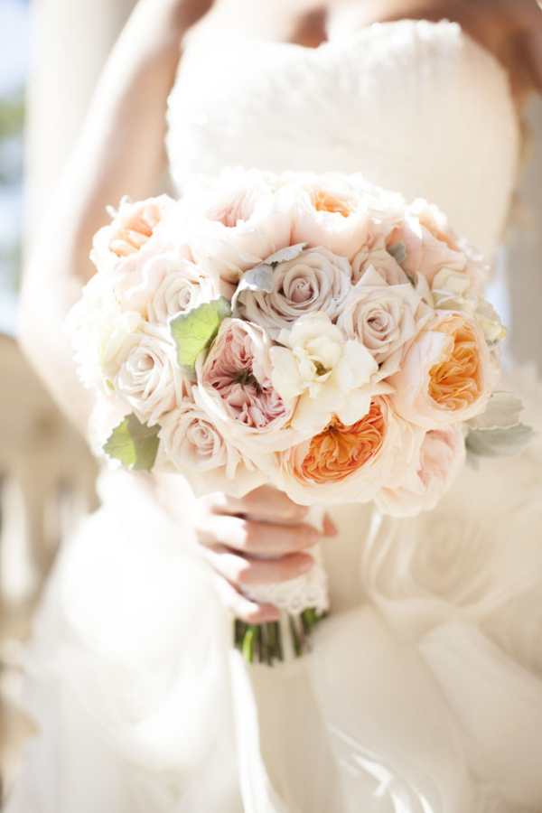 Pale Peach and Pink Bouquet