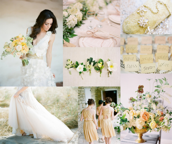 Pale peach yellow wedding colors elizabeth anne designs pale yellow peach wedding colors junglespirit Choice Image