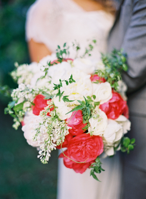 Pink Red and Cream Bouquet