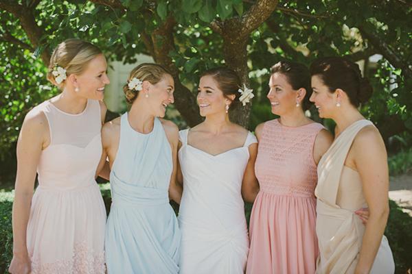 Pretty Pastel Bridesmaids Dresses