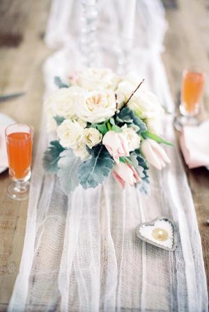 Pretty Wedding Brunch Table