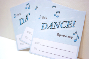 Printable Song Request Cards