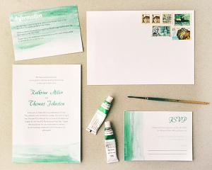 Printable Watercolor Wedding Stationery