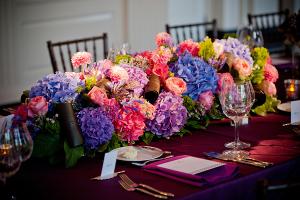 Purple and Fuchsia Wedding Flowers