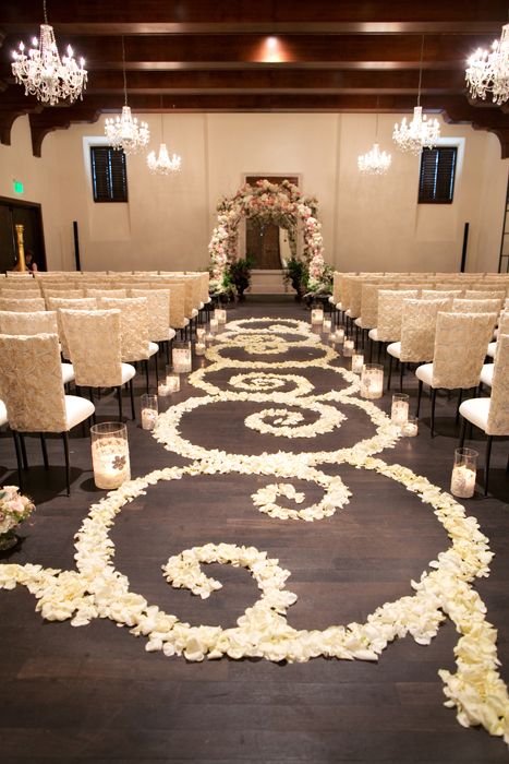 Rose Petal Wedding Aisle - Elizabeth Anne Designs: The Wedding Blog