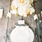 Rose Petal and Votive Centerpiece