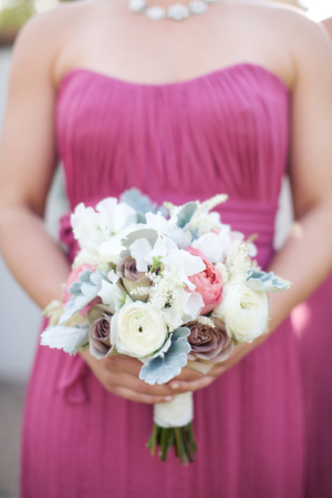Rose Ranunculus and Dusty Miller Bouquet