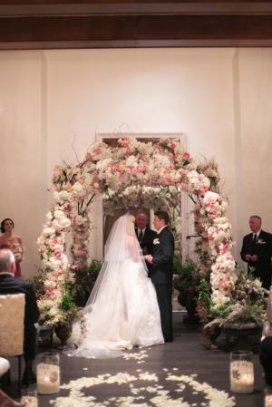 Rose Wedding Ceremony Arch