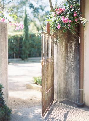 Rustic Iron Garden Gate