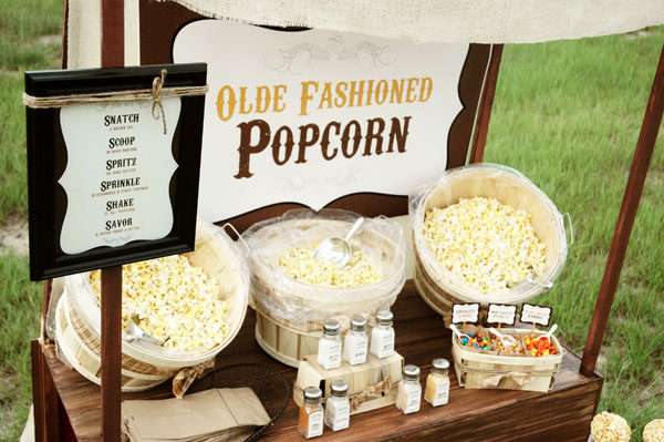 Rustic Popcorn Bar
