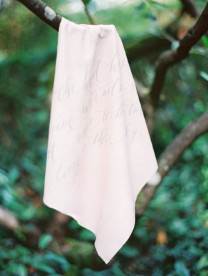 Sheet With Calligraphy on Branch