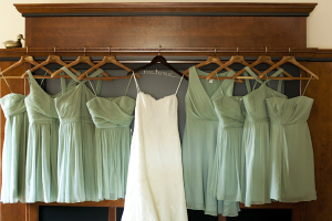 Short Mint Green Bridesmaids Dresses