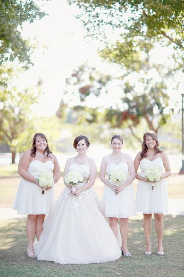 Short White Bridesmaids Dresses - Elizabeth Anne Designs: The ...