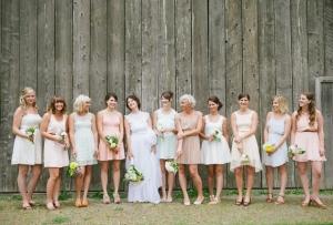 Soft Pastel Bridesmaids Dresses