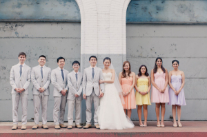Soft and Colorful Bridal Party