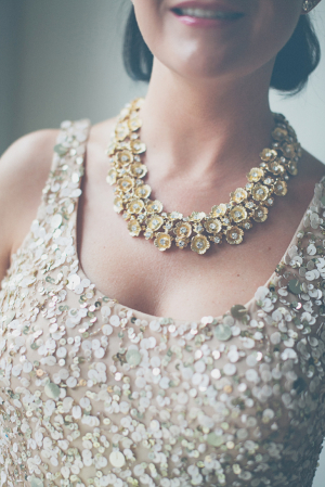 Sparkly Gold Bridesmaids