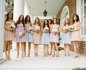 Spring Pastel Bridesmaids Dresses